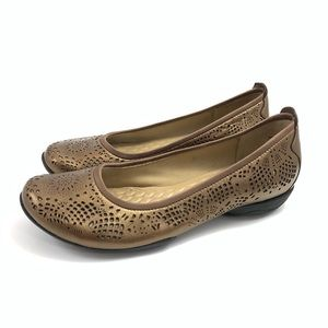 Privo Leather Laser Cut Flats
